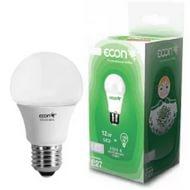 Лампа светодиодная ECON CN 12Вт Е27 3000К А60, арт.: а00476