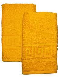 Полотенце махровое 40*70 желтый гладкокрашеное 400гр/м2, арт.: в00306