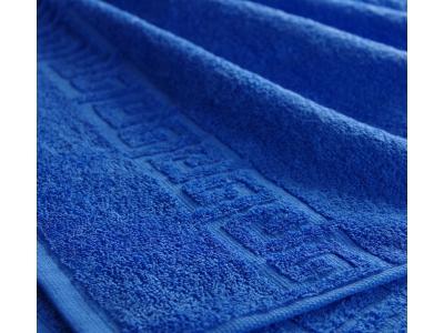 Полотенце махровое 40*70 синий гладкокрашеное 400гр/м2, арт.: в00308