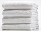 Полотенце махровое 40*70 белый гладкокрашеное 400гр/м2, арт.: в00309