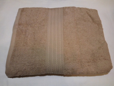 Полотенце махровое 40*70 кофе с молоком гладкокрашеное 400гр/м2, арт.: в00310