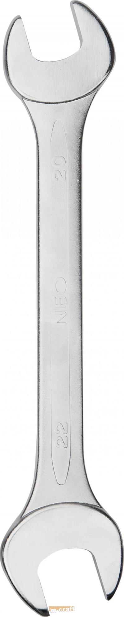 Ключ гаечный 19*22/двусторонний с открытым зевом никелевое покрытие, арт.: 23669