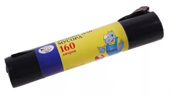 Мешки для мусора 160л 10шт 109*85см, арт.: а00301