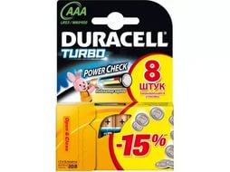 Батарейка DURACELL LR03 TURBO 8BL (80), арт.: а00826