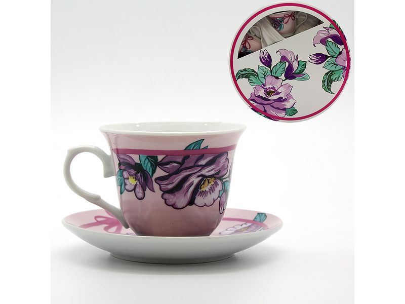 Набор чайный 12 пр (6 чашек+6 блюдец) 220 мл квадр упак  Катунь, арт.: в00846