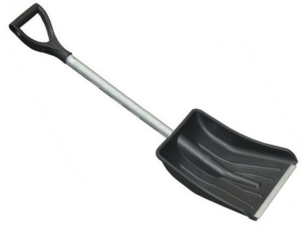 Лопата снеговая 365*280 мм с ал. черенком и ручкой Авто, арт.: г00421