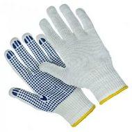 Перчатки трикотажные ХБ с ПВХ  7 класс цена 10 шт/уп, арт.: 9п3175