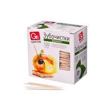 Зубочистки из дерева 500шт, в индивидуальной п/э упаковке, 400-512, арт.: 437166
