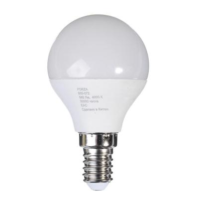 Лампа светодиодная G45 5W, E14, 400lm 4200К FORZA, арт.: 935073
